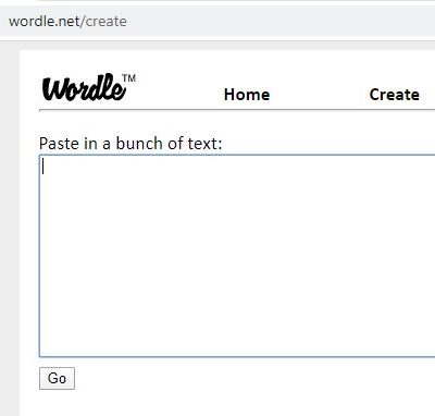 Wordle screen